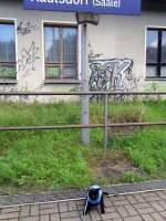Maunzerle/91297/maunzerle-als-reisende-auf-dem-bhf Maunzerle als reisende auf dem Bhf Kaulsdorf 28-8-2010